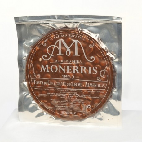 Turrón Monerris Chocolate con leche 300 grs