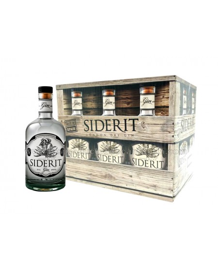 CAJA 6 botellas GINEBRA SIDERIT 70cl