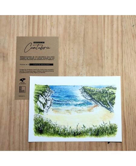 Postal 2 Playa de Mataleñas...